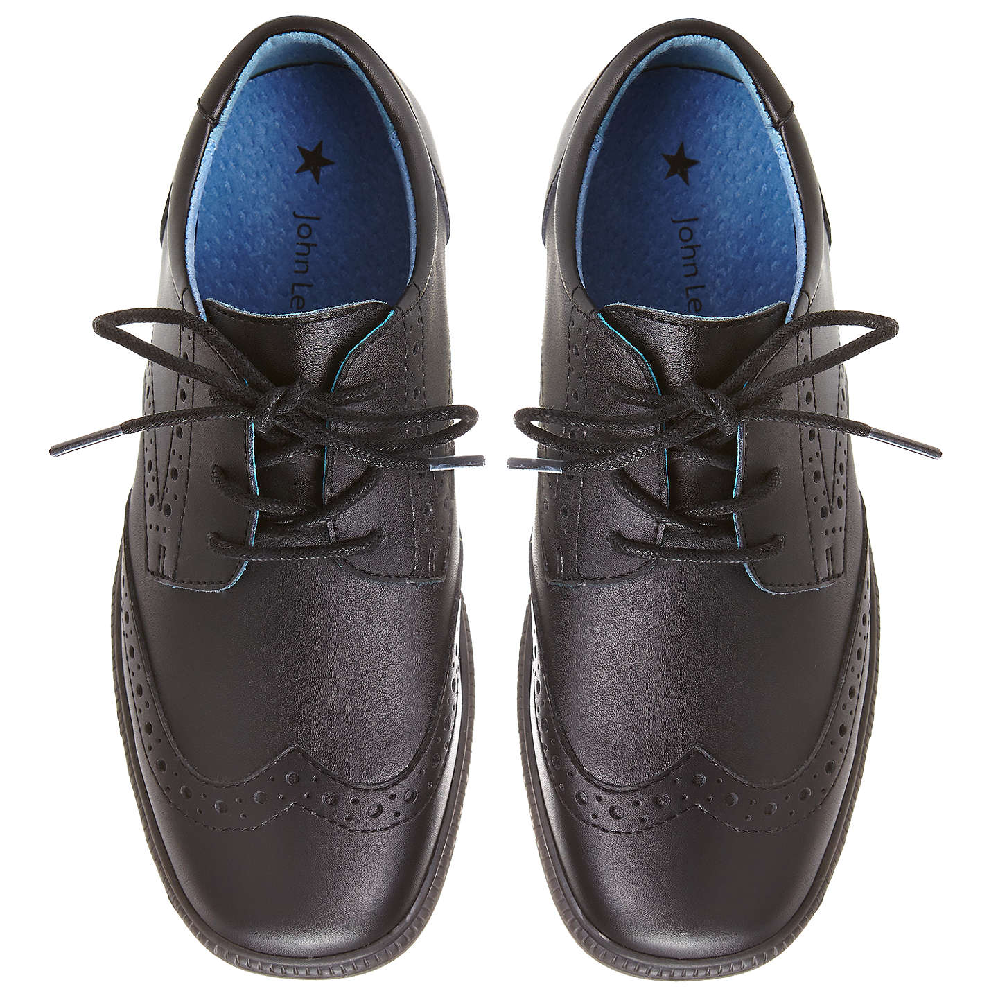 BuyJohn Lewis Chancery Laced Brogues Shoes, Black, 13 Jnr Online at johnlewis.com