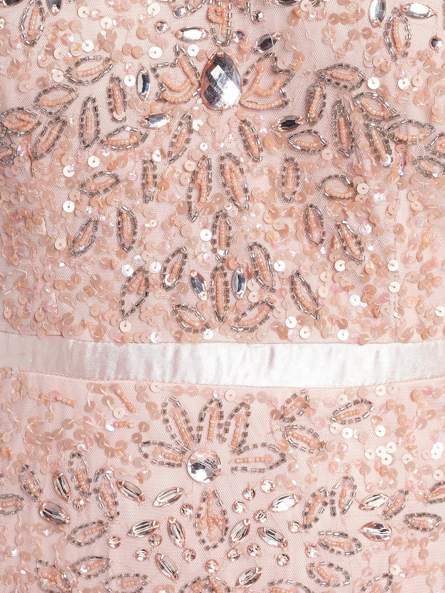 Adrianna Papell Wedding Long Beaded Cap Sleeve Dress Blush At John
