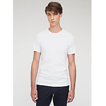 Buy Jigsaw Classic Cotton T-Shirt, White Online at johnlewis.com