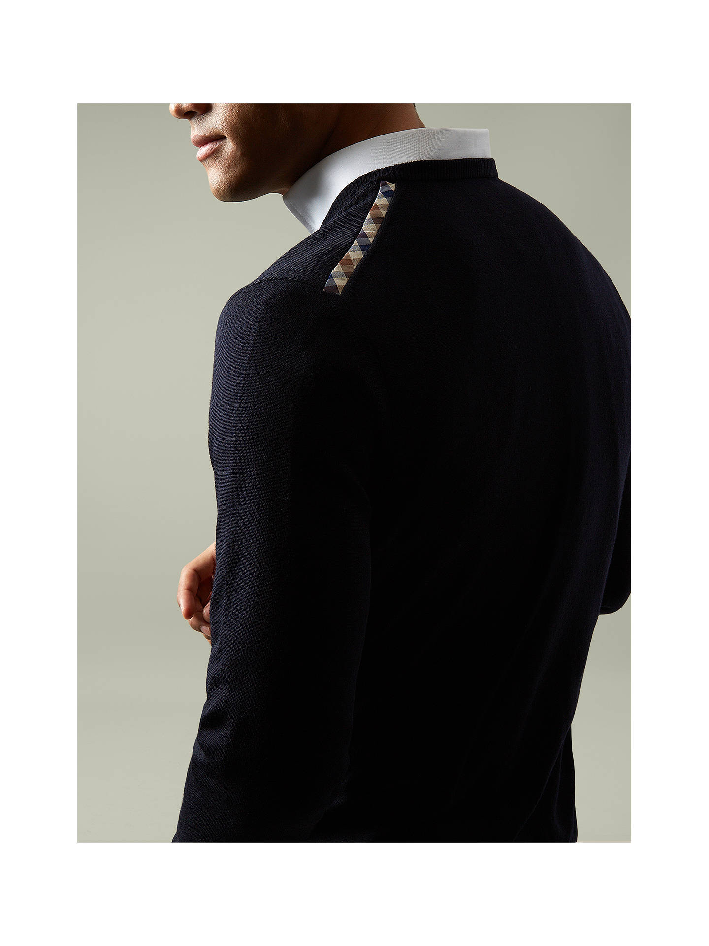 Aquascutum Rolfe Crew Neck Merino Wool Jumper at John Lewis