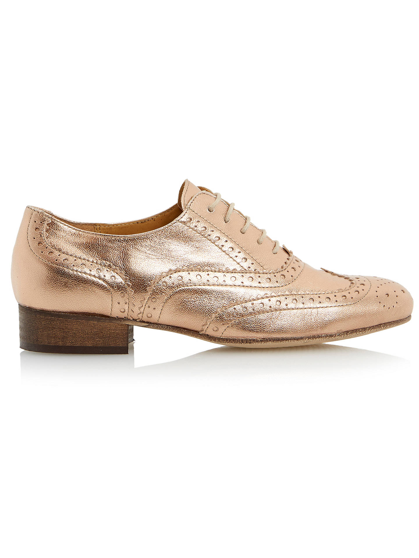 Clarks Gold Metallic Leather ladies shoes//flats//brogues 2//34-3//35.5 BMWB