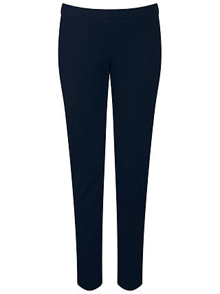 Buy Pure Collection Cotton Stretch Cropped Trousers, Navy, 8 Online at johnlewis.com