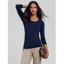 Buy Pure Collection Soft Jersey Scoop Neck Top Online at johnlewis.com