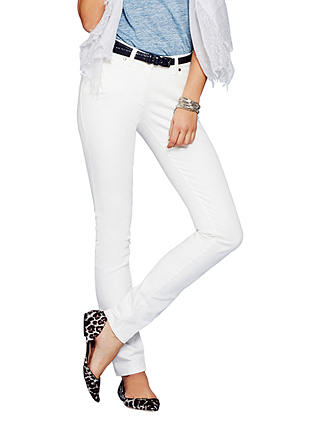 Buy Pure Collection Slim Leg Jeans, White, 10S Online at johnlewis.com