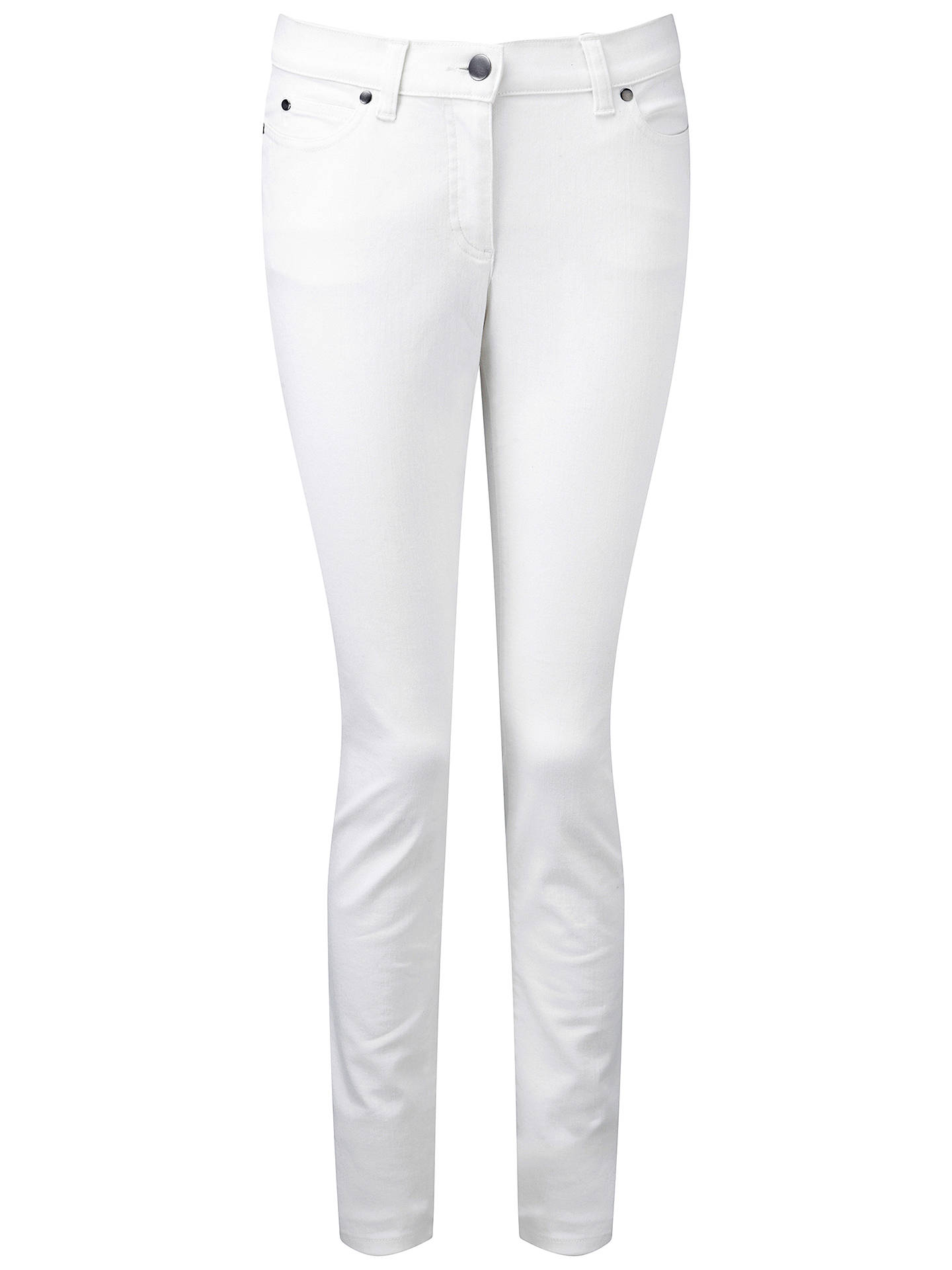 Buy Pure Collection Slim Leg Jeans, White, 20S Online at johnlewis.com