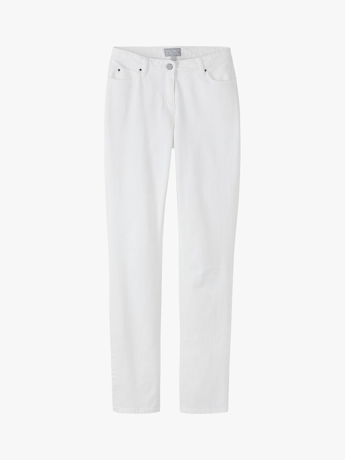 Buy Pure Collection Slim Leg Jeans, White, 8S Online at johnlewis.com