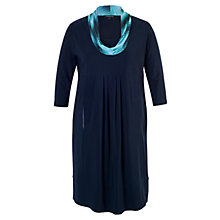 Buy Chesca Print Cowl Neck Dress, Navy Online at johnlewis.com