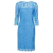 Buy Gina Bacconi Scalloped Flower Lace Dress, Blue Online at johnlewis.com