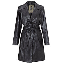 Buy Four Seasons Lightweight Print Trench Coat, Gunmetal Online at johnlewis.com