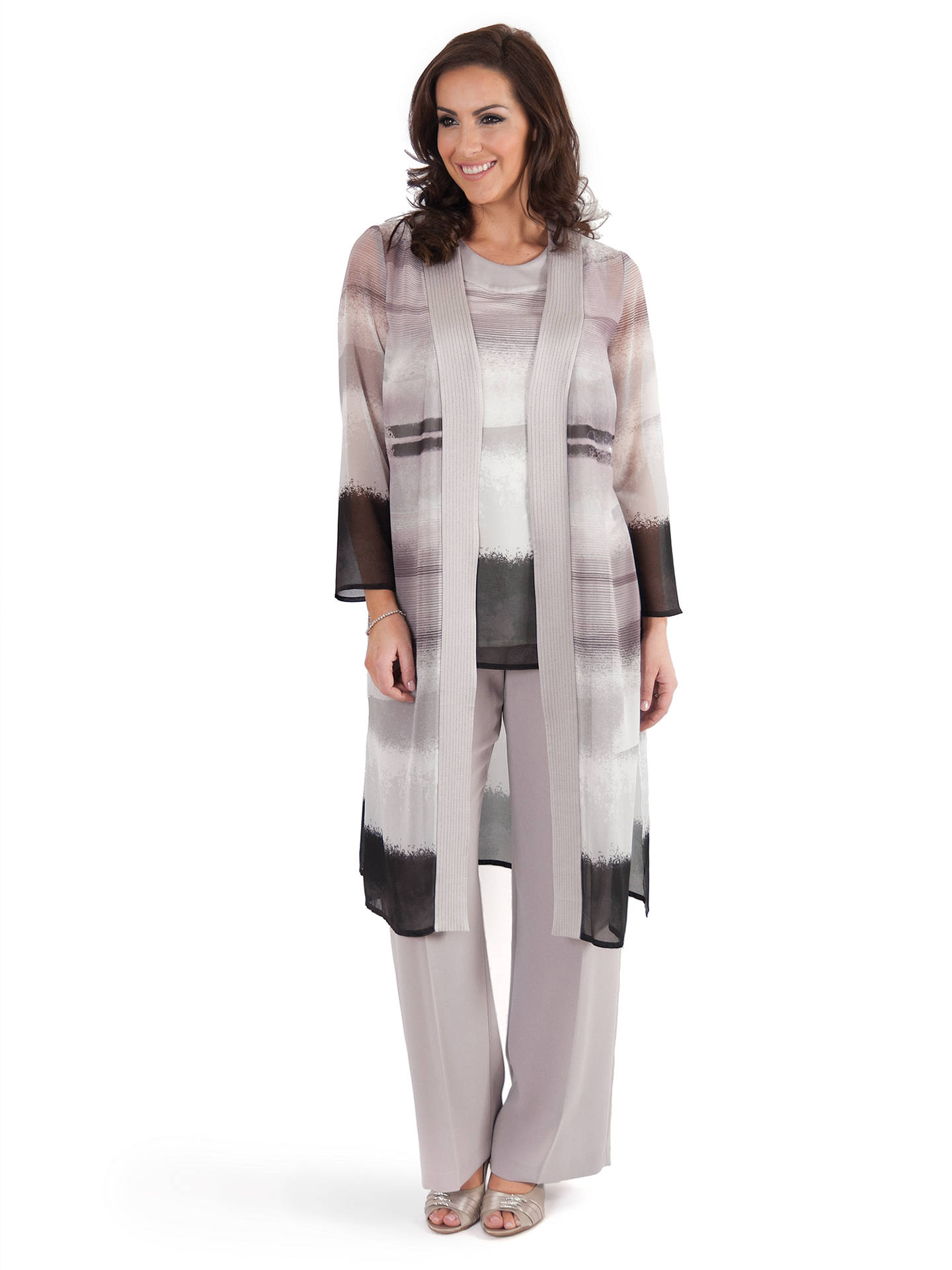 Buy Chesca Mink Satin Trim Coat, Beige, 14 Online at johnlewis.com