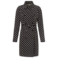 Buy Four Seasons Short Spot Print Trench Coat, Black Online at johnlewis.com