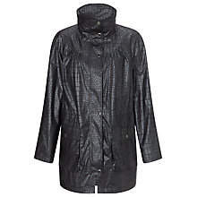 Buy Four Seasons Embossed Parka Jacket, Gunmetal Online at johnlewis.com