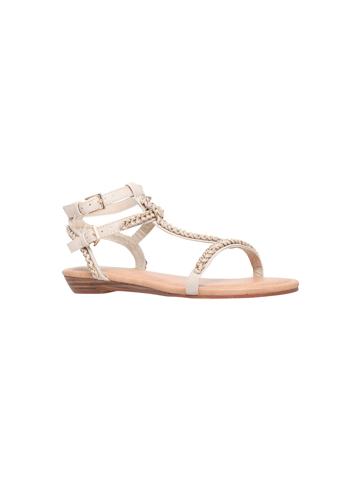 Miss KG Roz Chain Link Flat Sandals, Nude at John Lewis