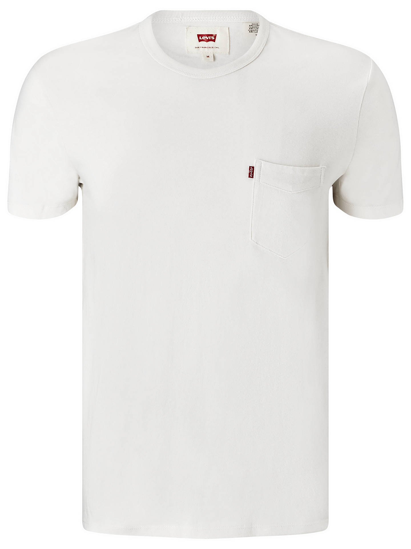 Buy Levi's One Pocket Short Sleeve T-Shirt, Smoke White, S Online at johnlewis.com