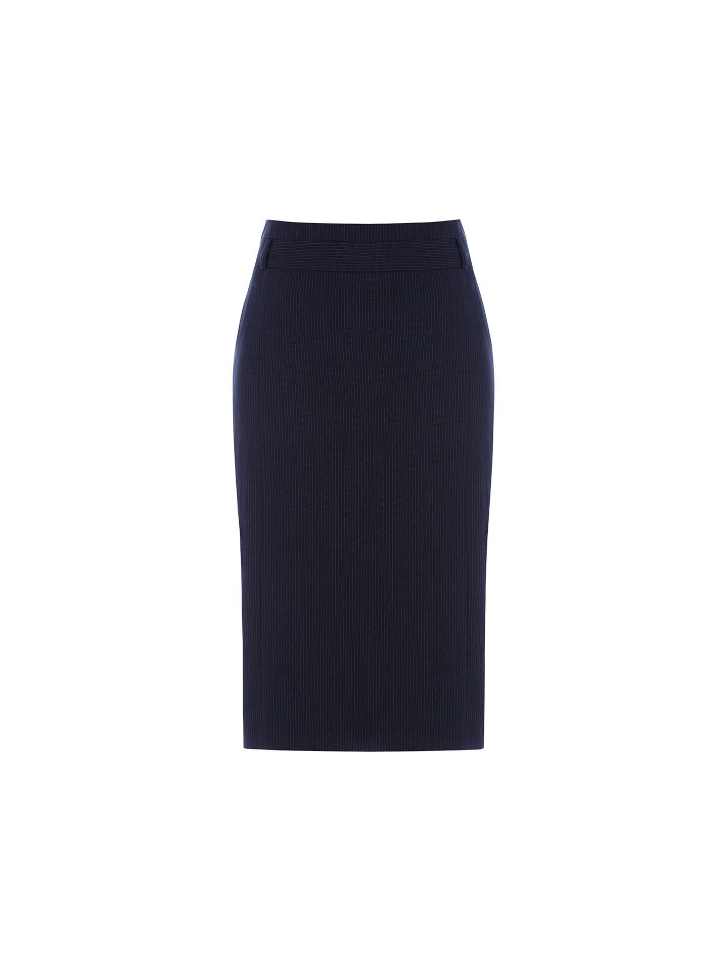 e23551b7a Buy Warehouse Pinstripe Pencil Skirt, Navy, 6 Online at johnlewis.com ...