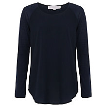 Buy French Connection Polly Plains Long Sleeve Top, Utility Blue Online at johnlewis.com