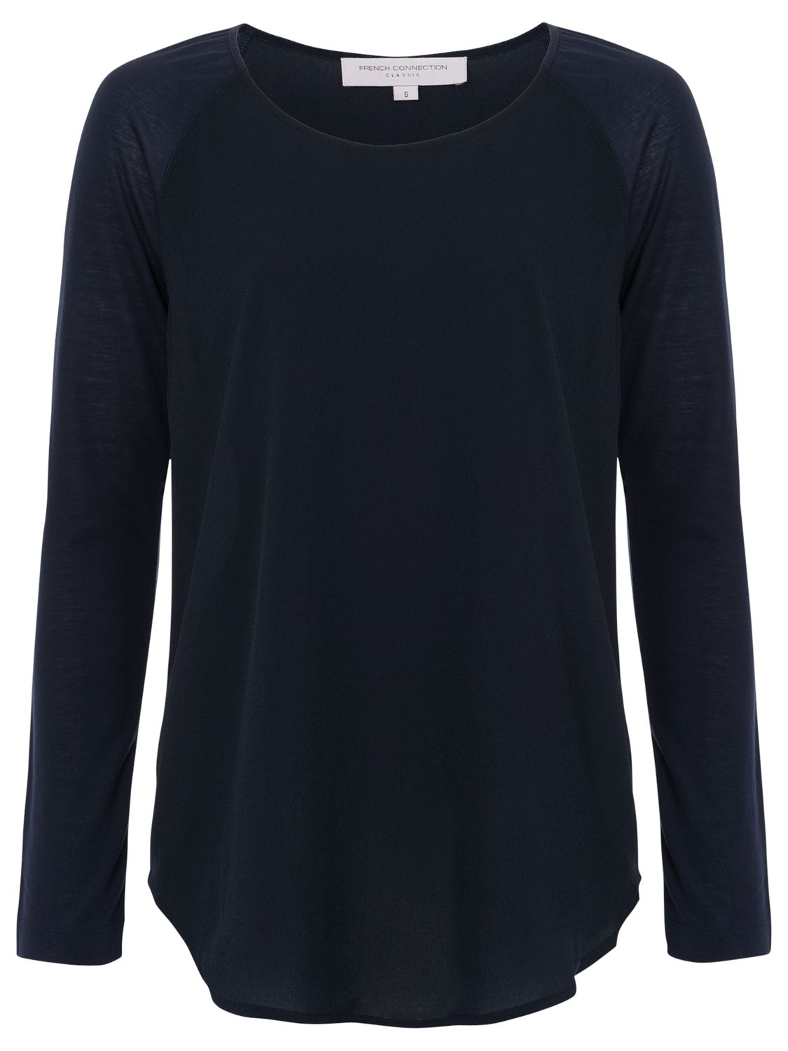 French Connection French Connection Polly Plains Long Sleeve Top, Utility Blue