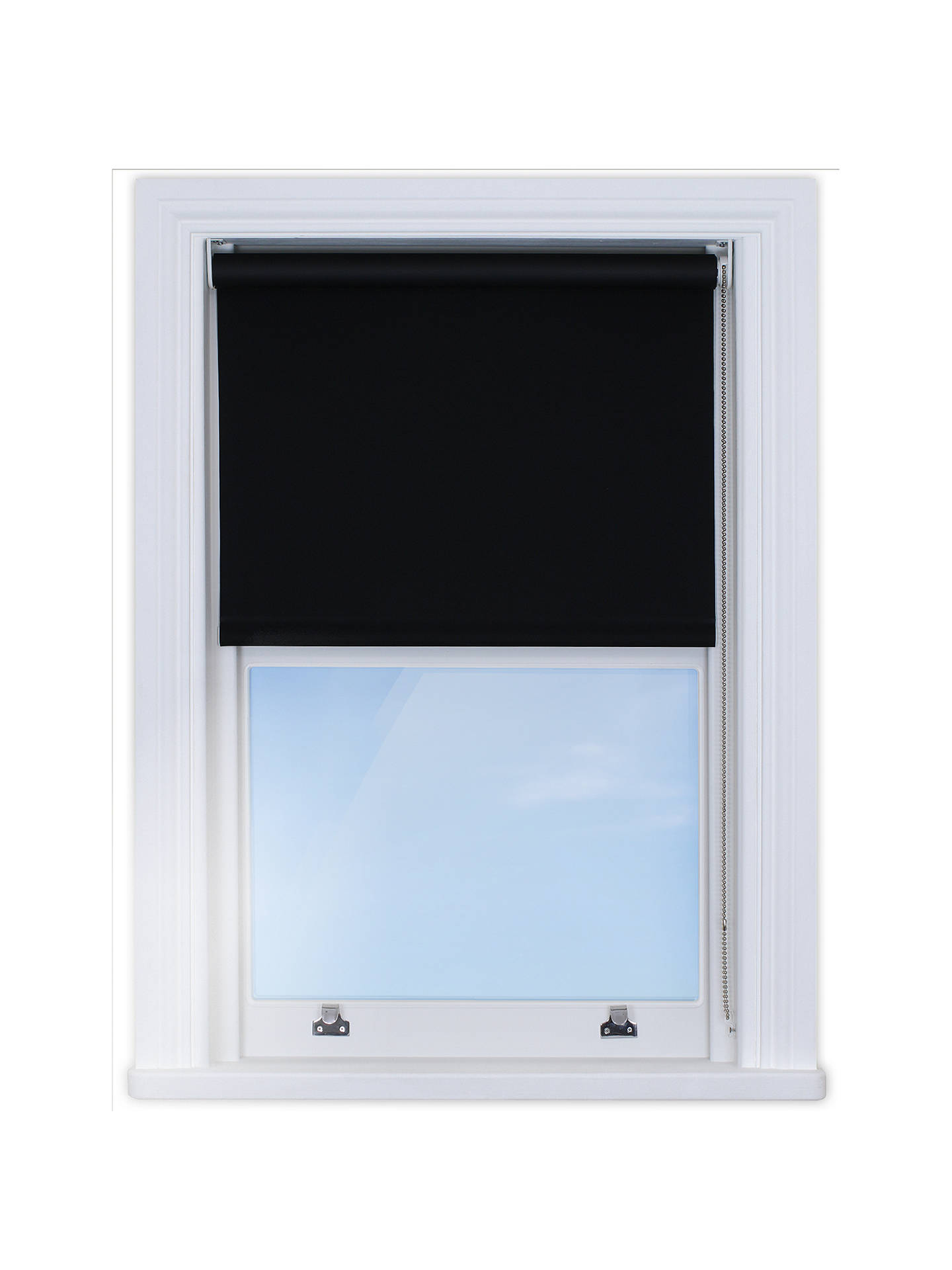 Buy Bloc Made to Measure Fabric Changer Blackout Roller Blind, Black Ink, Max W70 x Max Drop 100cm Online at johnlewis.com
