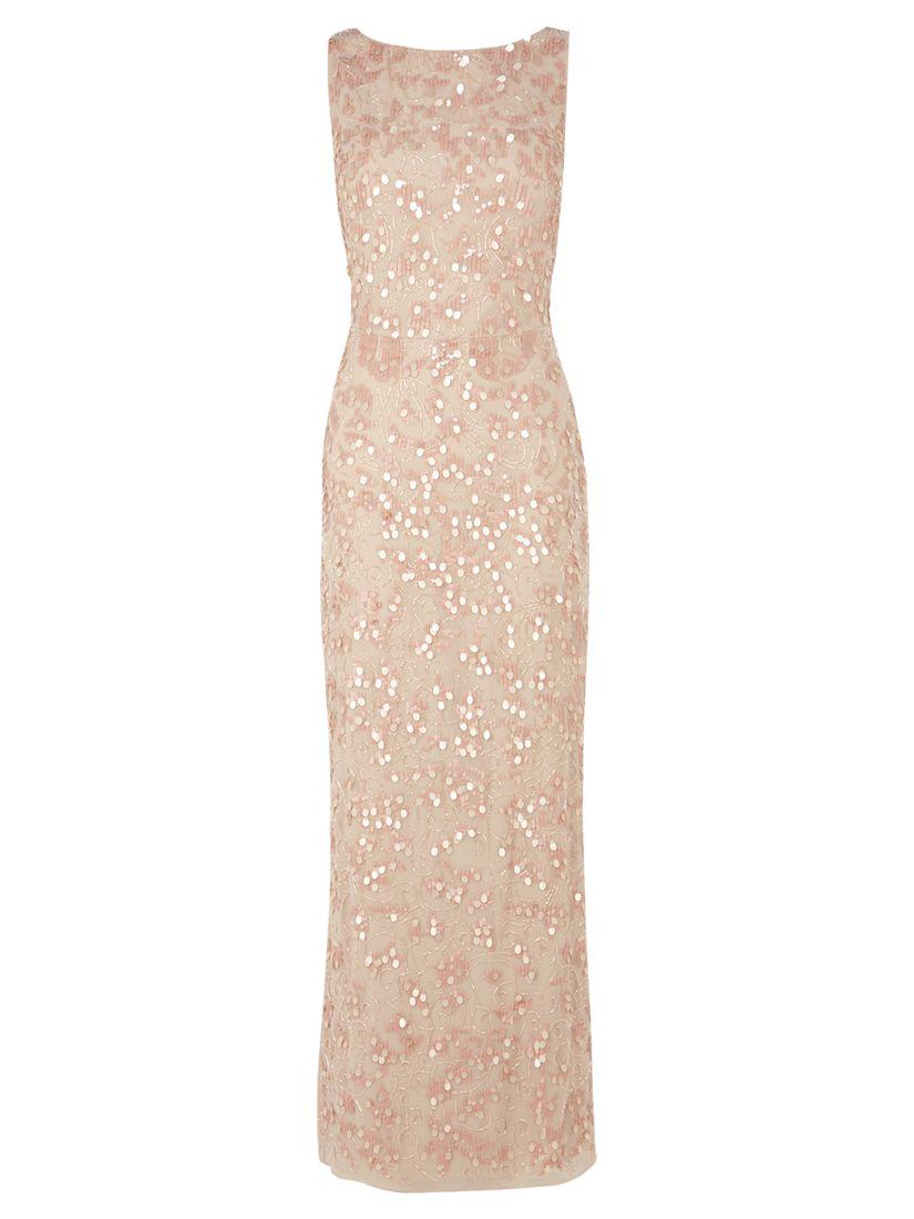 7c15cf91 Coast Felix Sequin Maxi Dress, Blush at John Lewis & Partners
