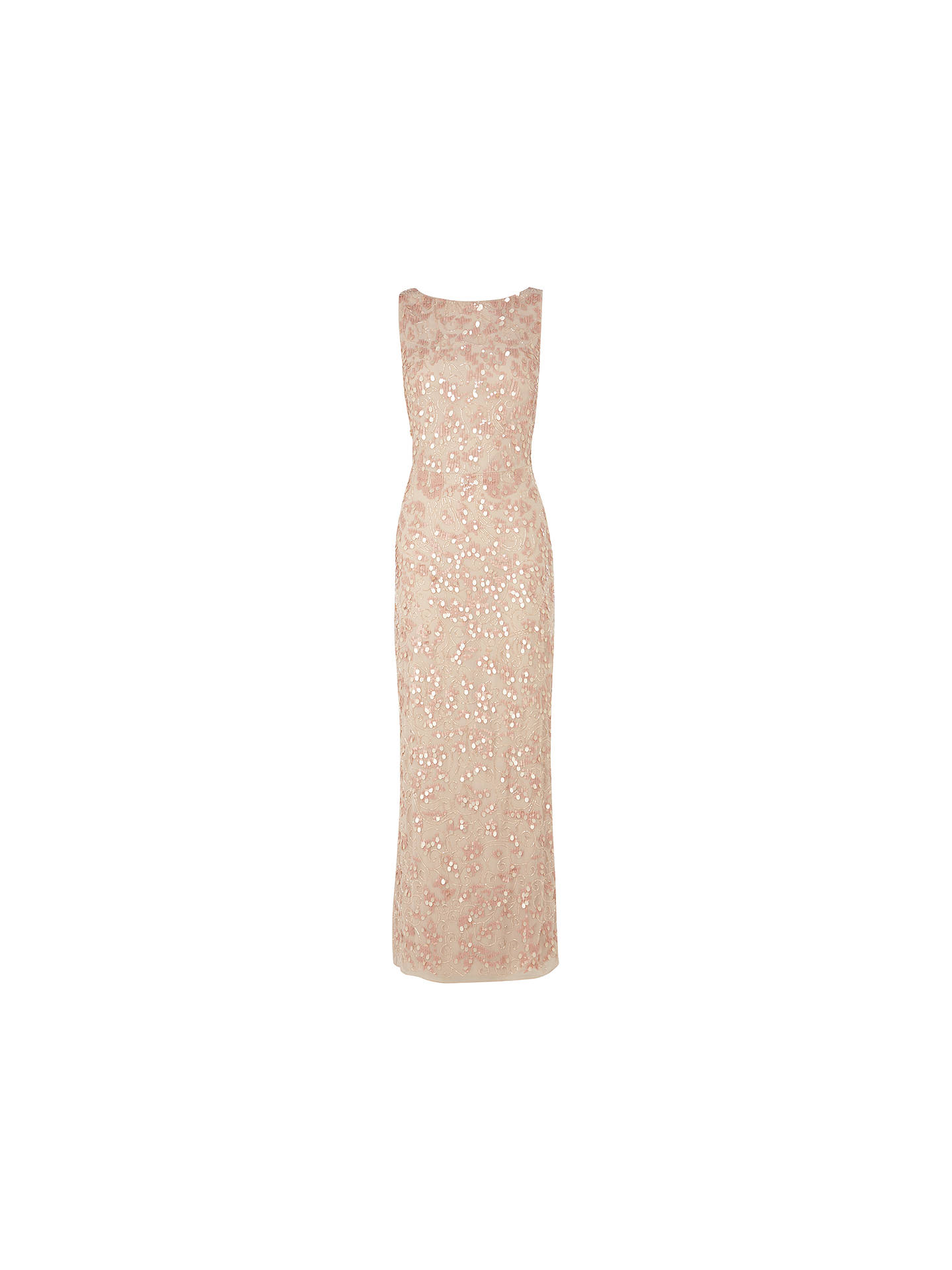 638a6c44 Buy Coast Felix Sequin Maxi Dress, Blush, 6 Online at johnlewis.com ...