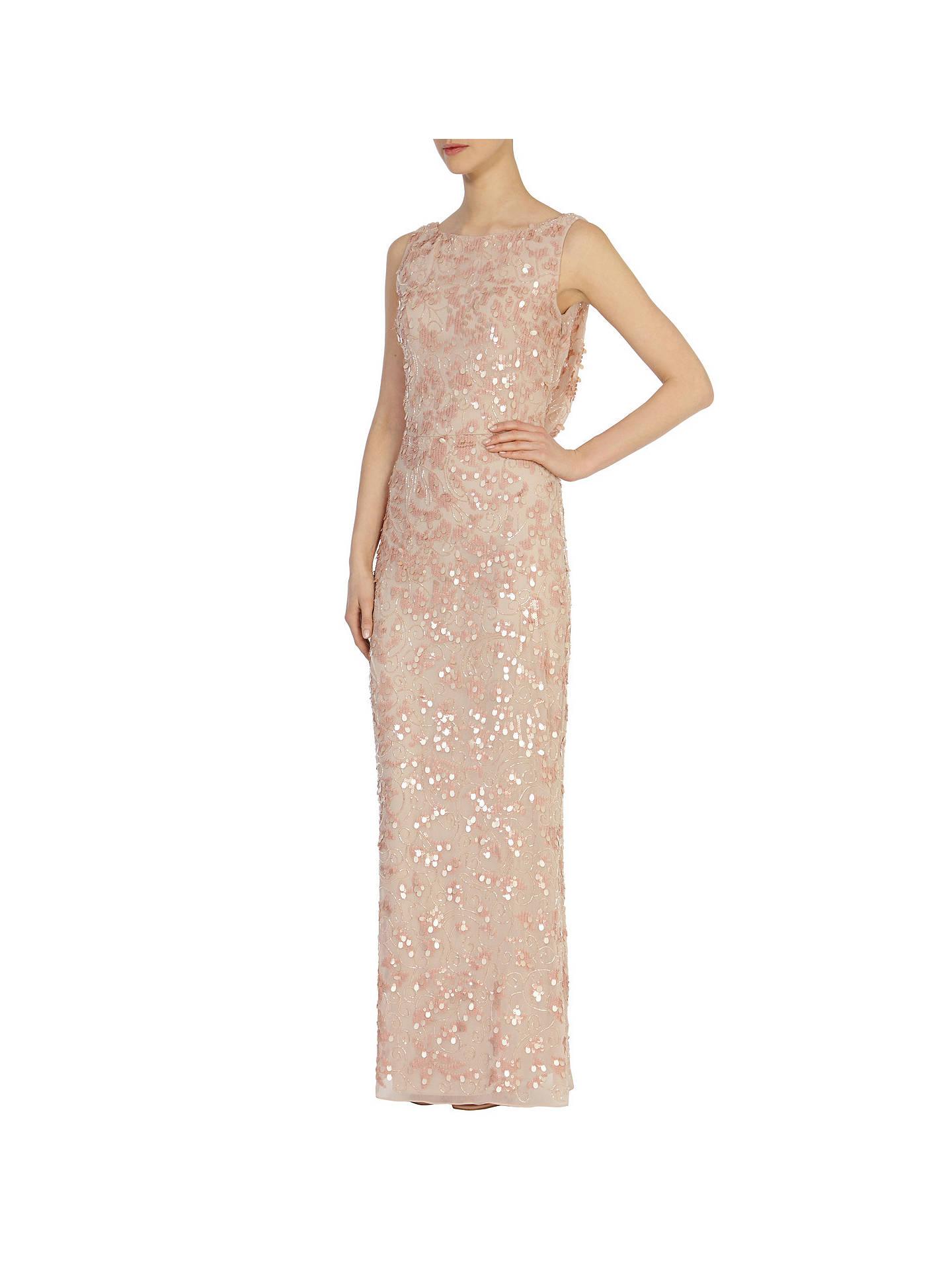 3720219c ... Buy Coast Felix Sequin Maxi Dress, Blush, 6 Online at johnlewis.com ...