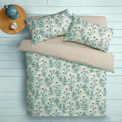 MissPrint Home Denver Blossom Cotton Duvet Cover and Pillowcase Set, Plains