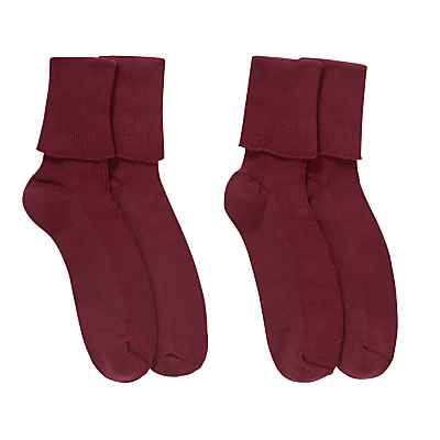 Product photo of Ashfold school ankle socks pack of 2 maroon