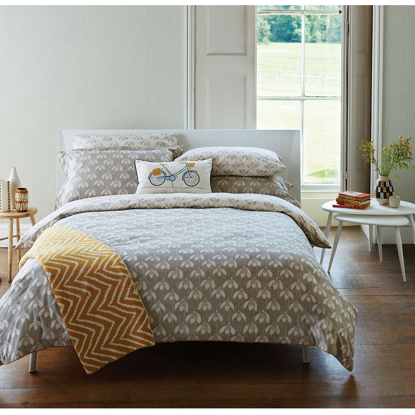 Scion snowdrop bedding at john lewis for Bedroom inspiration john lewis