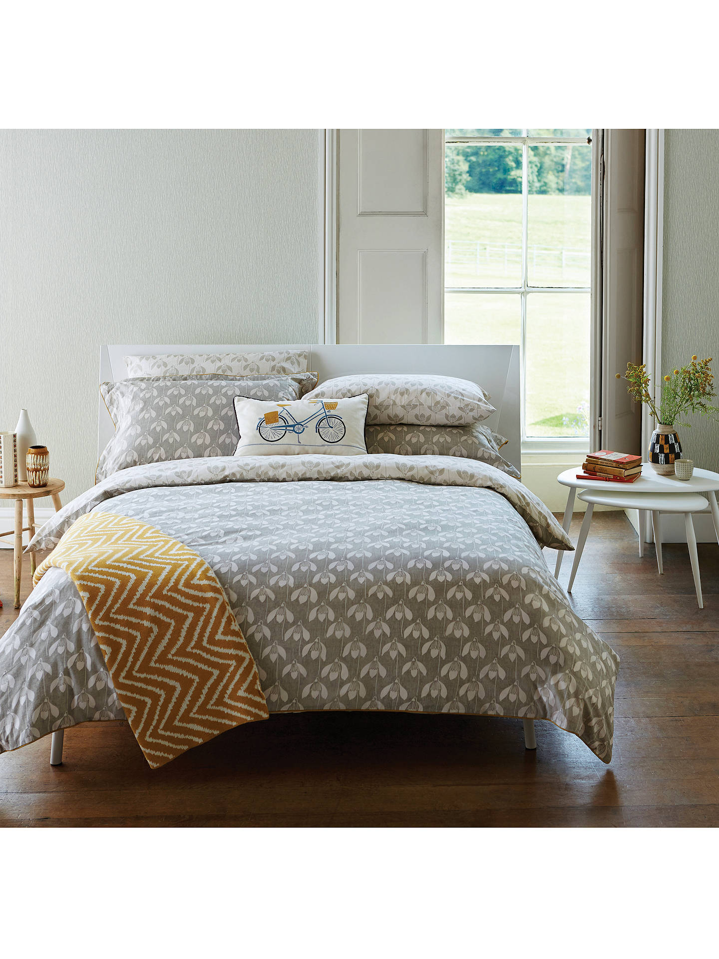 Buy Scion Snowdrop Duvet Cover, Super King Online at johnlewis.com