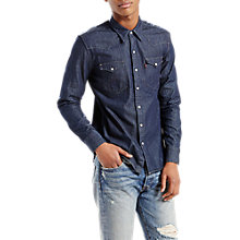 Buy Levi's Barstow Western Denim Shirt, Indigo Online at johnlewis.com