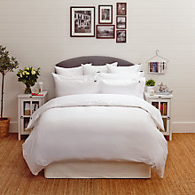 Buy Lexington Icons Pinpoint Bedding, White/White Online at johnlewis.com