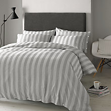 Buy Jigsaw Linen Stripe Bedding, Smoke Online at johnlewis.com