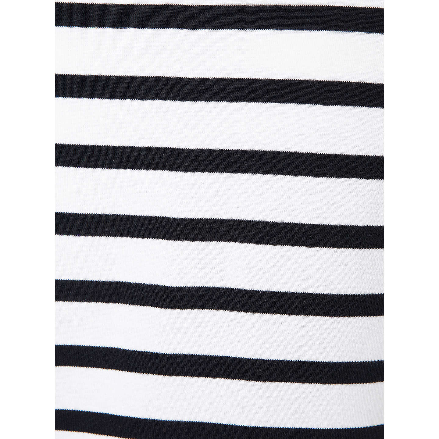 BuyJohn Lewis Half-Sleeve Breton Stripe Top, White/Navy, 8 Online at johnlewis.com