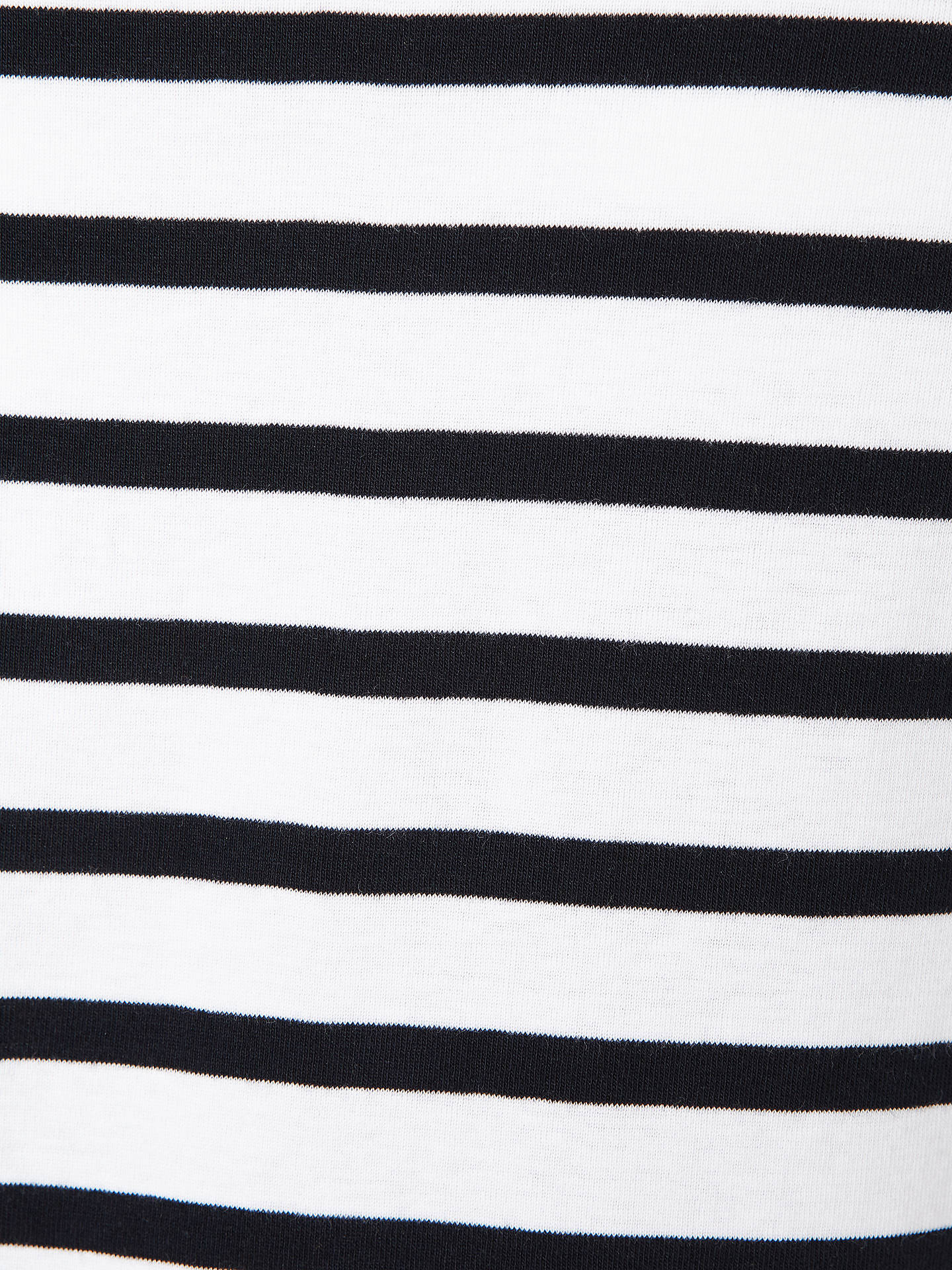 BuyJohn Lewis & Partners Half-Sleeve Breton Stripe Top, White/Navy, 10 Online at johnlewis.com