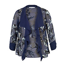 Buy Chesca Fan Print Devoree Shrug, Blue Online at johnlewis.com