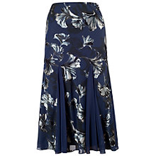 Buy Chesca Contrast Trim Fan Print Skirt, Navy Online at johnlewis.com