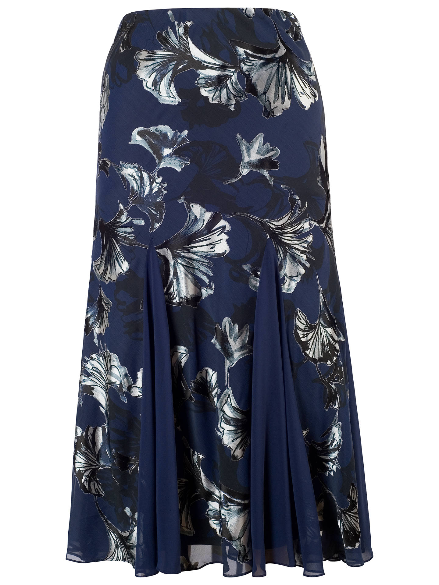 BuyChesca Contrast Trim Fan Print Skirt, Navy, 12 Online at johnlewis.com