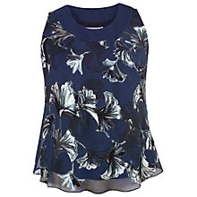Buy Chesca Fan Print Cami Top, Navy Online at johnlewis.com