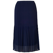 Buy Chesca Pleated Chiffon Skirt, Navy Online at johnlewis.com