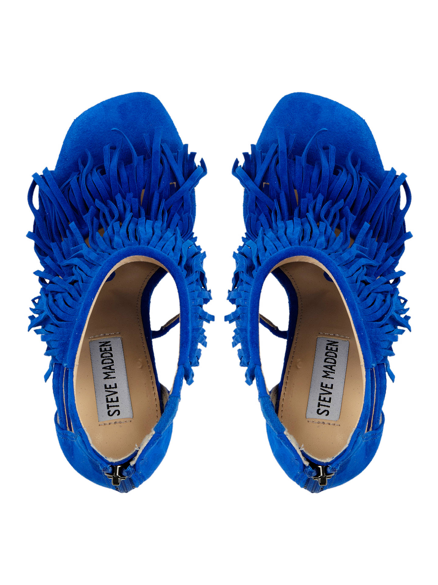 Buy Steve Madden Fringly Suede Fringed Court Shoes, Blue, 5 Online at johnlewis.com