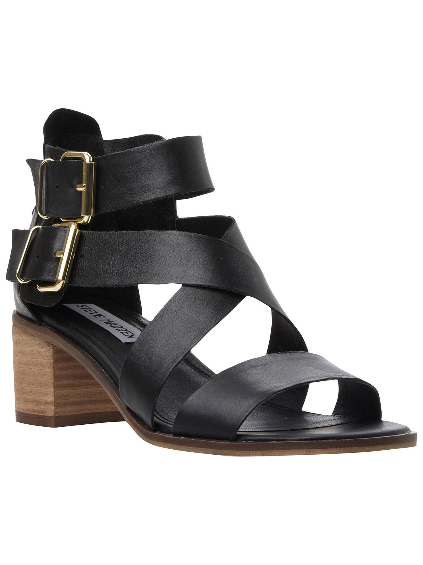 04497b5389b Steve Madden Rosana Strappy Leather Block Heel Sandals at John Lewis ...