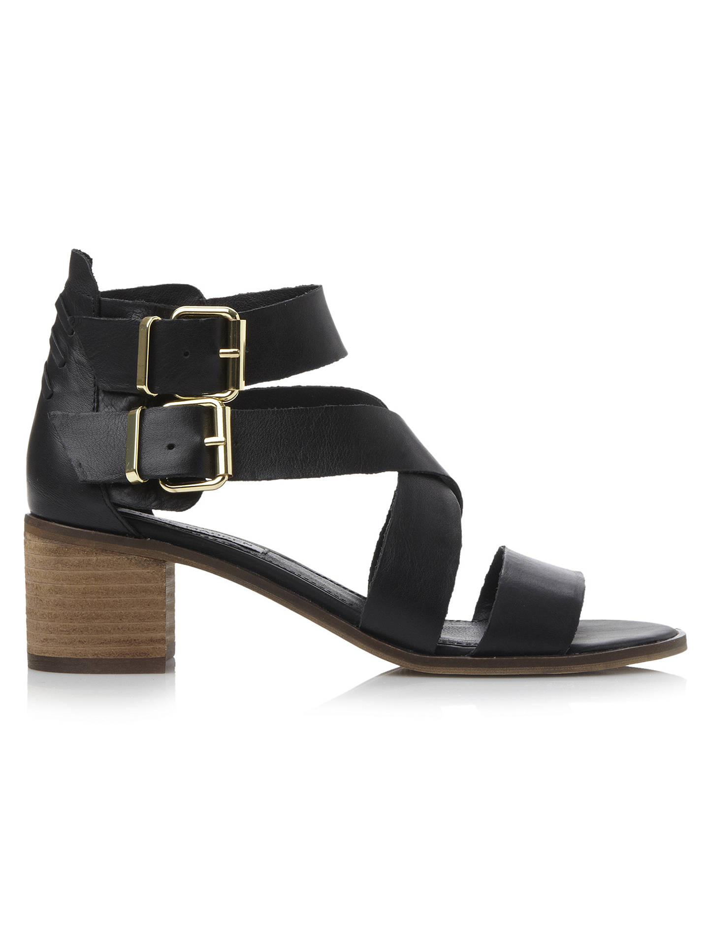 d1a19c4ab66 Steve Madden Rosana Strappy Leather Block Heel Sandals at John Lewis ...