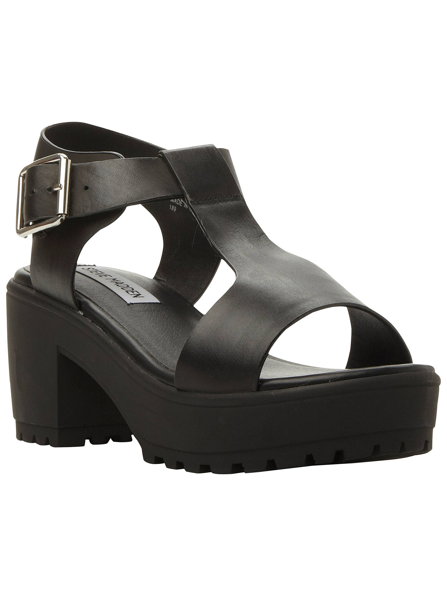 5a0f2f63459 Buy Steve Madden Stefano Chunky Leather T-Bar Sandals