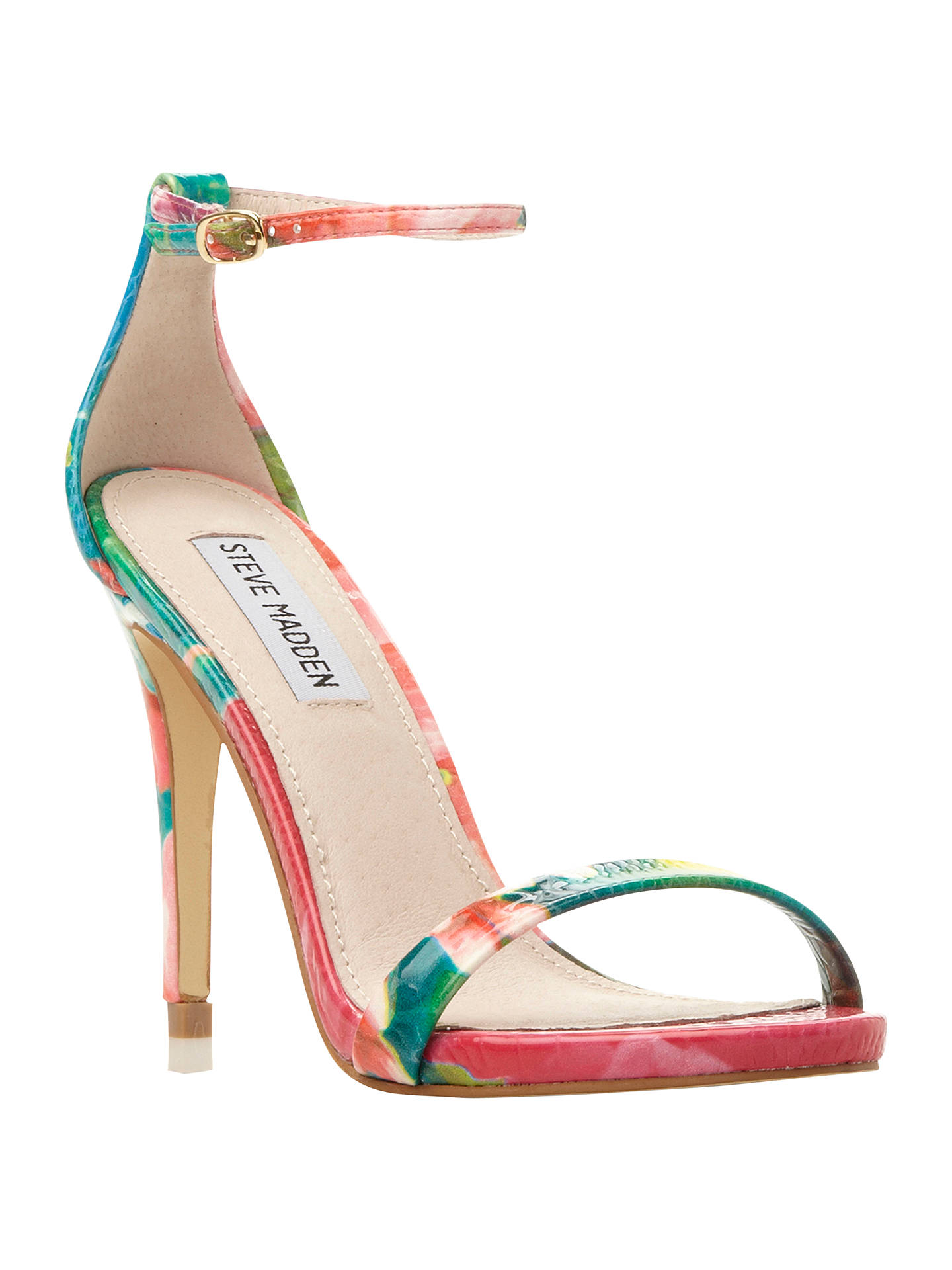715149c4c Buy Steve Madden Stecy Barely There High Heel Sandals, Reptile, 3 Online at  johnlewis ...