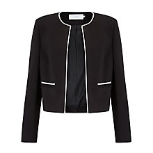 Buy John Lewis Blair Contrast Trim Jacket, Black/Cream Online at johnlewis.com