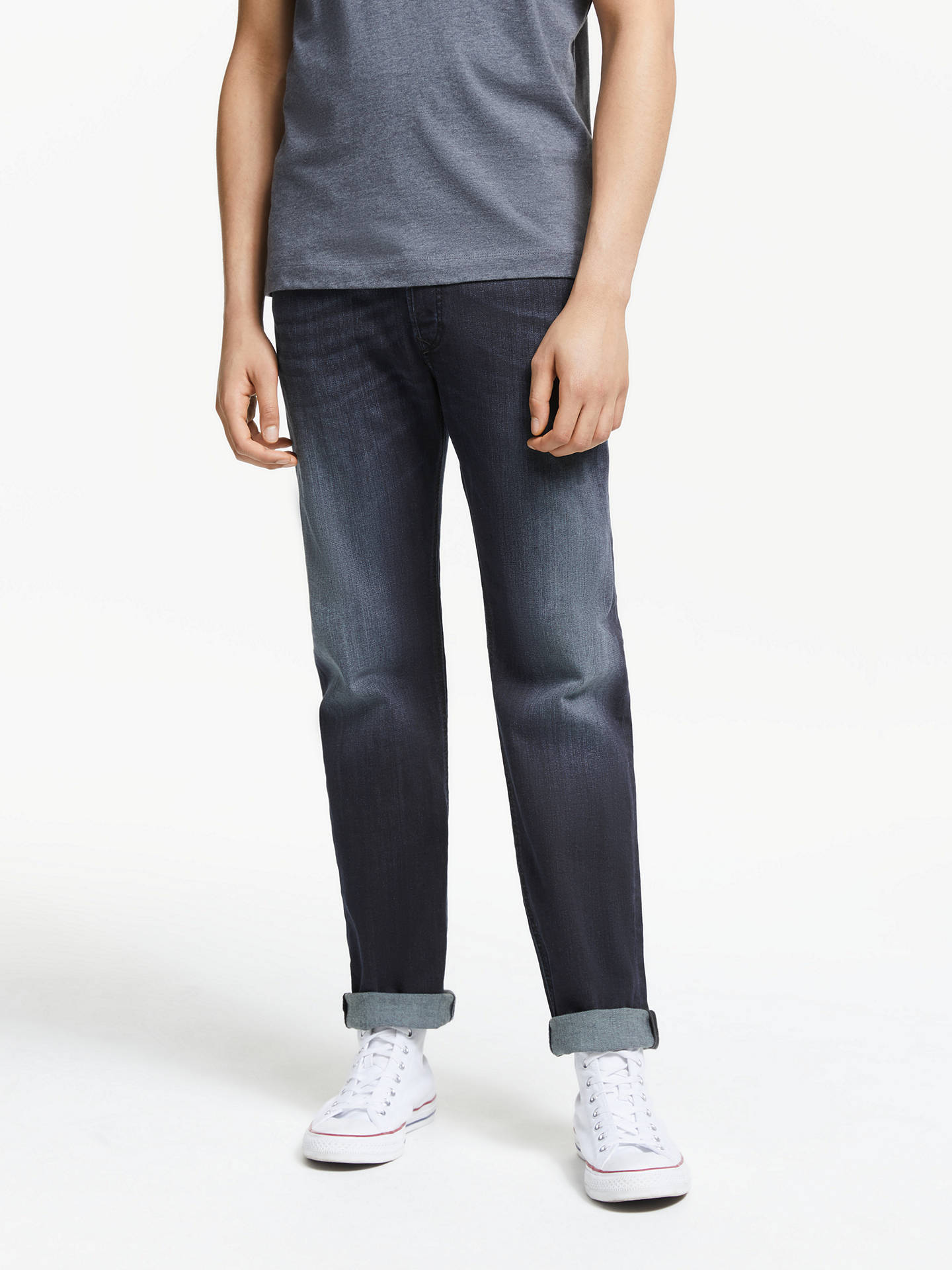 8d144403 Buy Diesel Waykee Straight Jeans, Mid Wash 0814W, 28S Online at  johnlewis.com ...