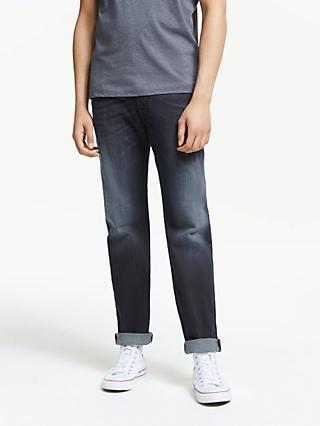 5aec9914 Diesel Waykee Straight Jeans, Mid Wash 0814W
