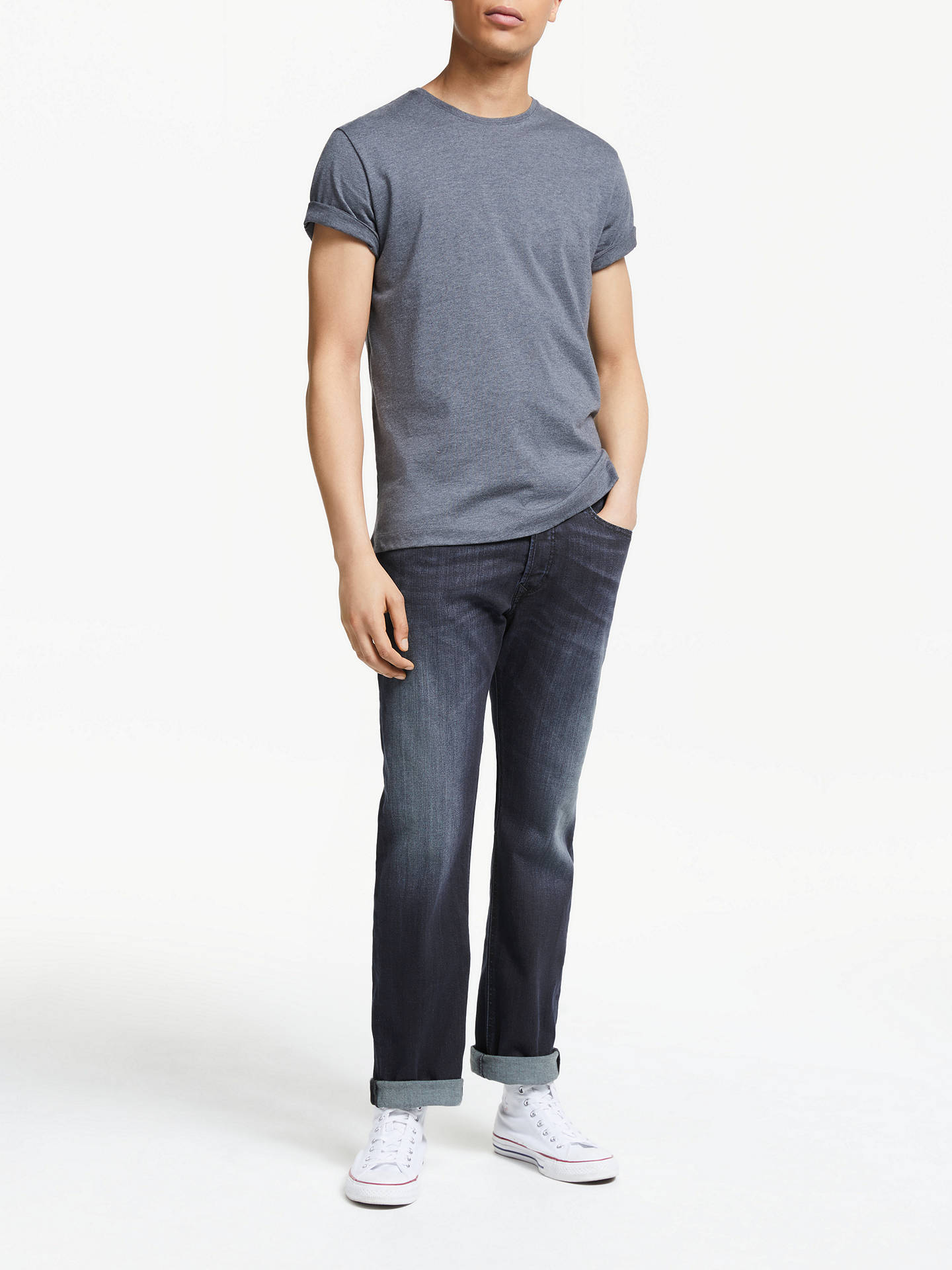 a3878fc0 ... Buy Diesel Waykee Straight Jeans, Mid Wash 0814W, 28S Online at  johnlewis.com ...