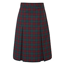 Buy Birchwood High School Girls' Skirt, Maroon/Green Online at johnlewis.com