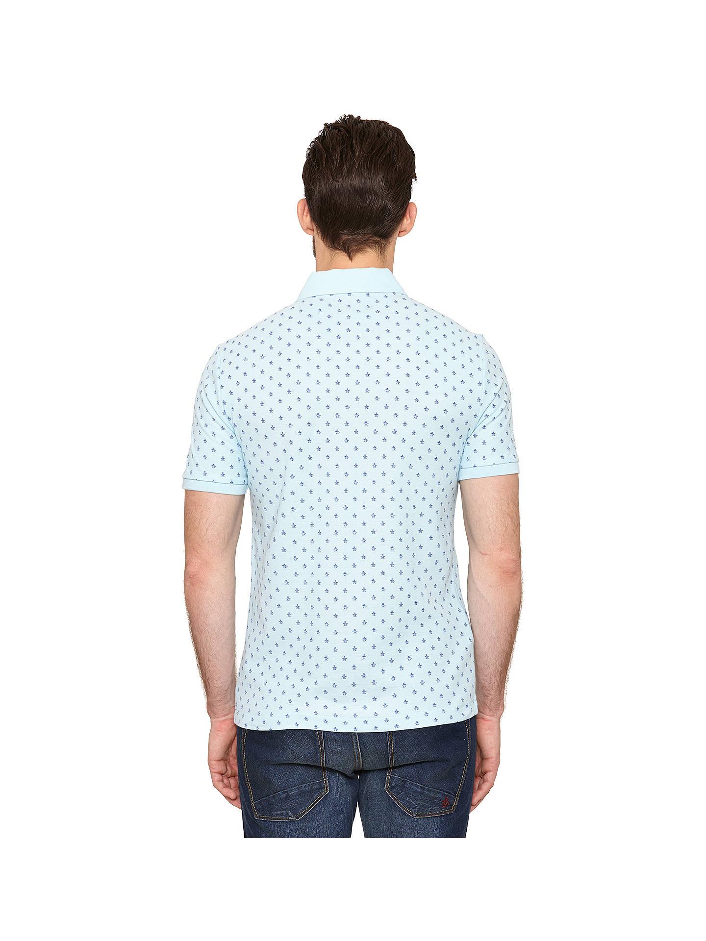 Original Penguin Pete Repeat Logo Polo Shirt Crystal Blue At John